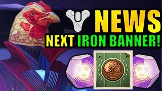Destiny 2 News: NEXT IRON BANNER! - EASY Powerful Gear! - Big DLC Change!