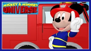 Mickey & Minnie's Universe - Mickey Mouse Clubhouse Fire Truck Game - Disney Junior Games For Kids