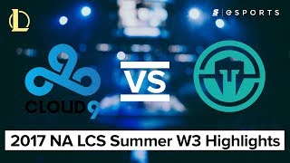 HIGHLIGHTS: Cloud9 vs Immortals (2017 NA LCS Summer)