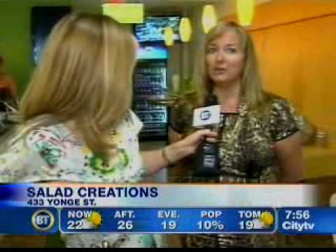 SALAD CREATIONS APPEARANCE ON BREAKFAST TELEVISION TORONTO JUNE 28  SEGMENT  2