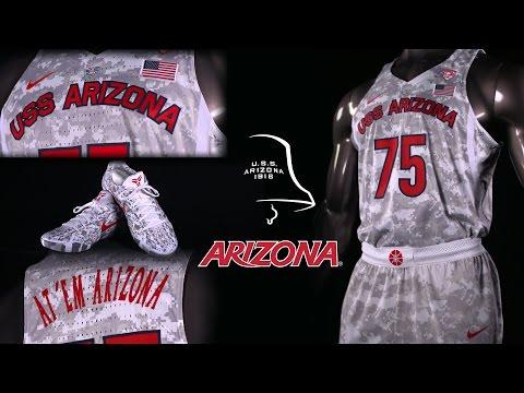 "Arizona Basketball ""We Remember"" Uniform - U.S.S. Arizona"