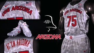 "Arizona Basketball ""We Remember"" Uniform - U.S.S. Arizona"