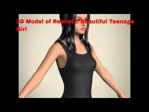 3D Model of Realistic Beautiful Teenage Girl