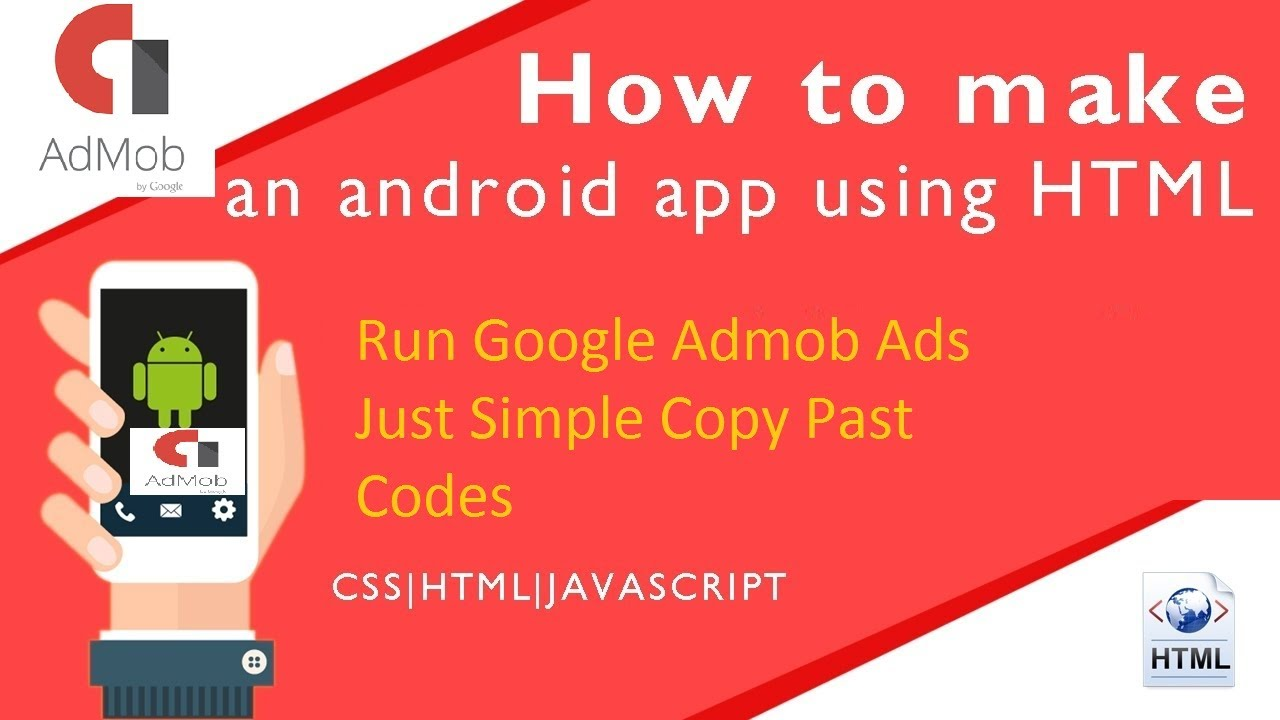 How Google Admob Ads Run in Website | android app (HTML, CSS, JS | Just  simple copy past code