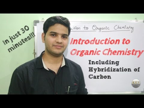 Organic Chemistry Basics with hybridization (Hindi/English/Urdu)