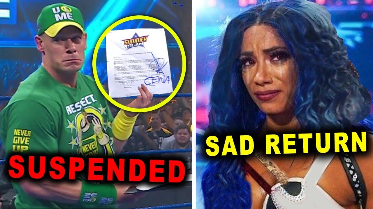 John Cena Suspended by WWE & Sasha Banks Sad Return - WWE News & Rumors