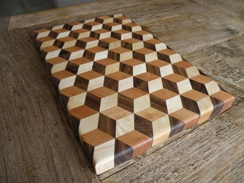 Woodworking - Making a 3d Tumbling cutting board - YouTube