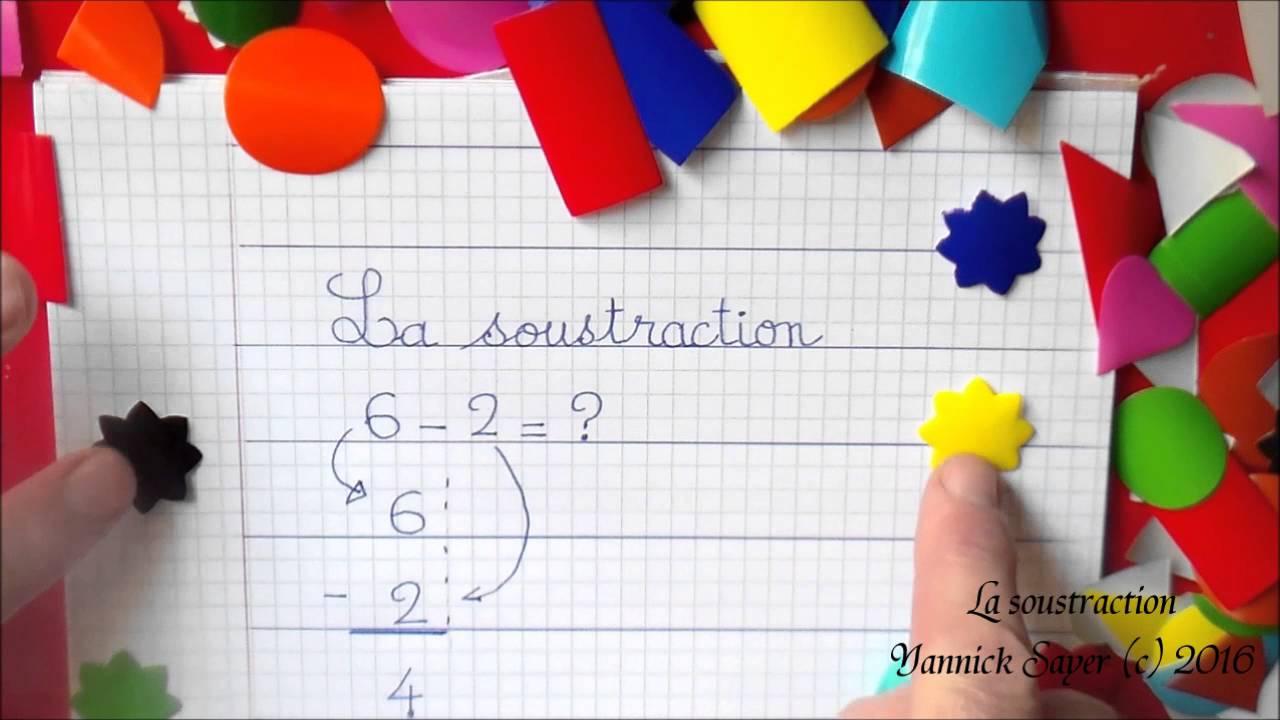 Apprendre la soustraction d s la maternelle gs cp ce1 for Poser une soustraction