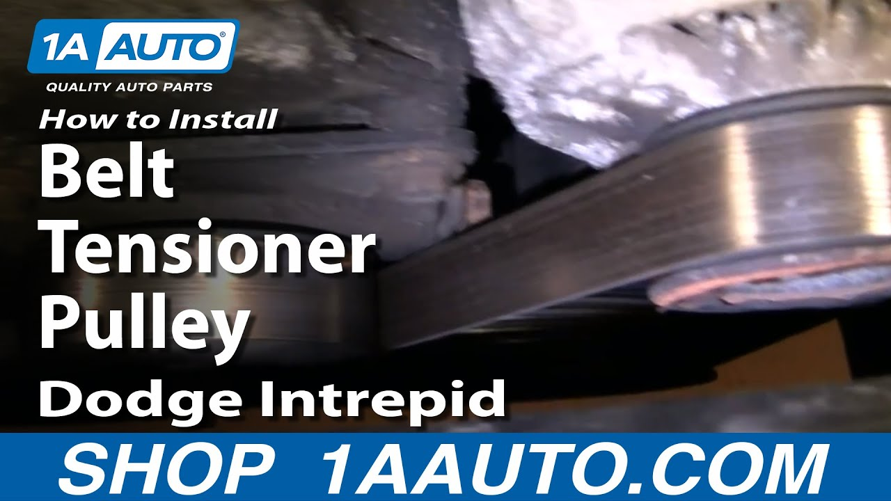 medium resolution of how to install replace belt tensioner pulley dodge intrepid 3 5l 93 97 1aauto com