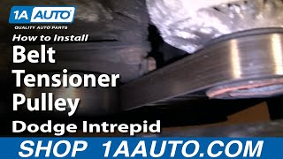 How To Install Replace Belt Tensioner Pulley Dodge Intrepid 3.5L 93-97 1AAuto.com