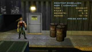 Duke Nukem: Manhattan Project - Level 1 - All Nukes and Secret Areas- HQ
