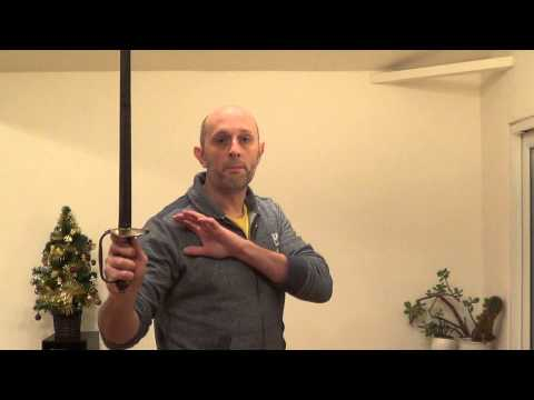 Placement of the spare/off hand in one-handed swordsmanship