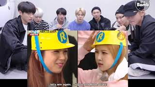 BTS reaction to Blackpink Funny Moments