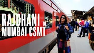 Rajdhani To Mumbai CSMT | #22222 Rajdhani Express 2nd AC Train Journey | Xtremeroads Train Vlog