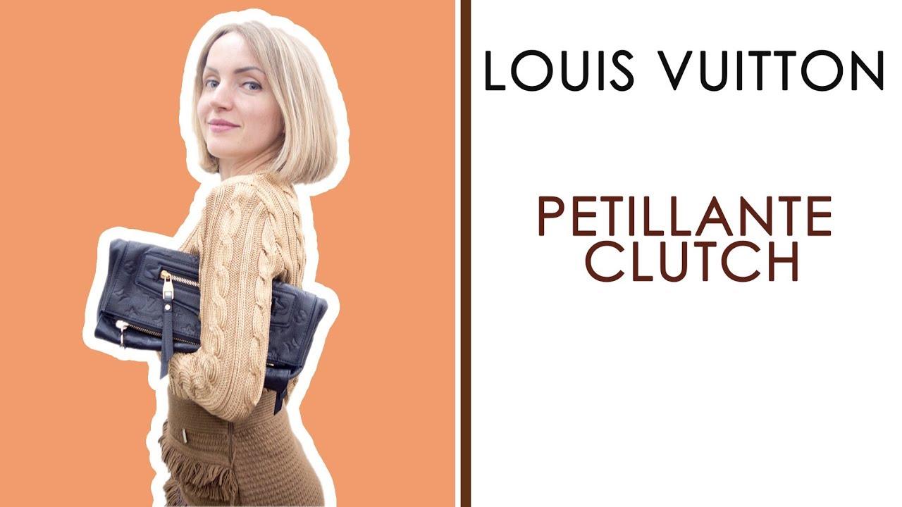 e01067577bda Louis Vuitton Petillante Empreinte Infini Clutch Review - YouTube