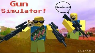 """""""yOu haVe AiM bOT kID"""" (Roblox Gun Simulator)"""