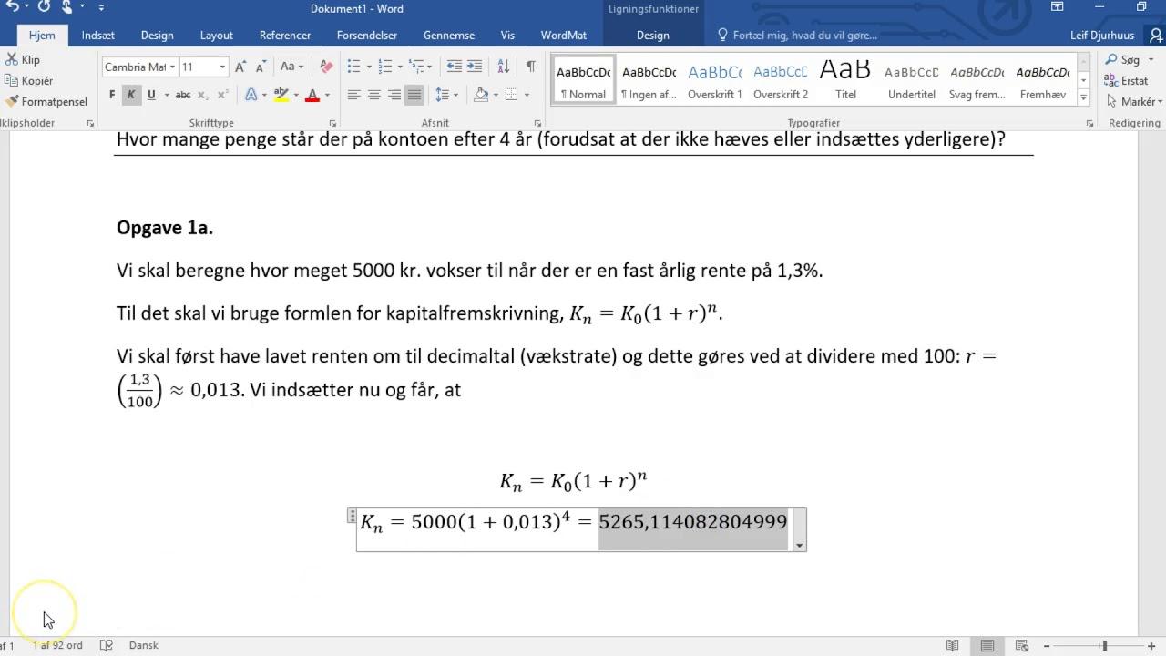 Vestegnen HF & VUC - krav til matematik HF skriftlige afleveringer