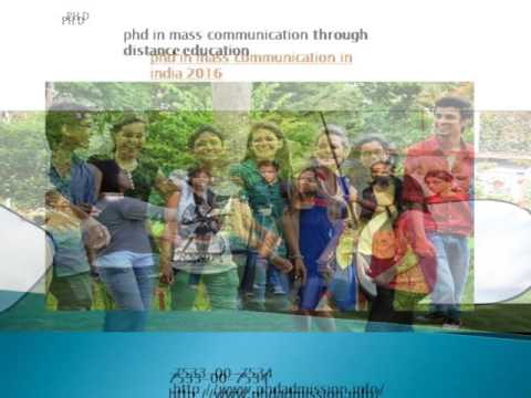 PhD In Mass Communication Courses India