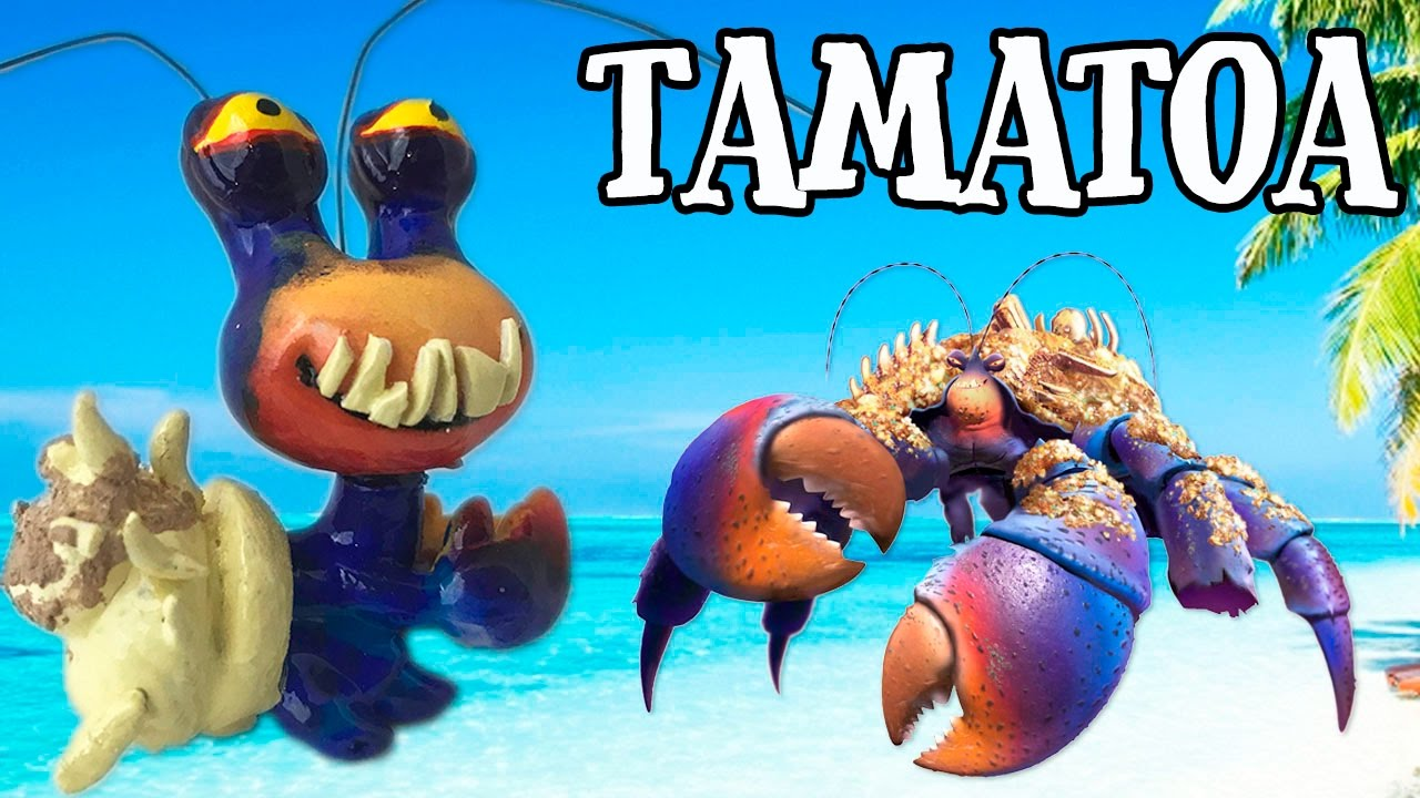 Custom TAMATOA LPS From MOANA Disneys Littlest Pet Shop