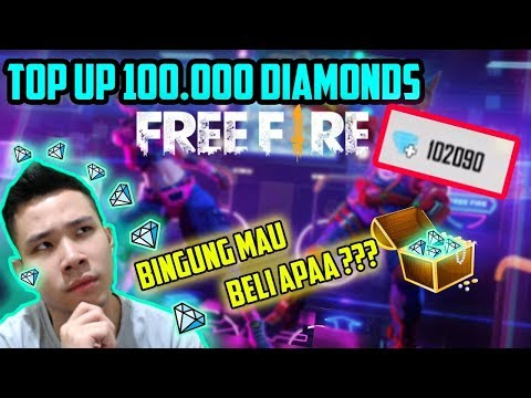 JESS Top Up 100.000 DIAMONDS FREE FIRE! Bingung Harus Beli Apa :(  + GIVEAWAY - Free Fire Indonesia
