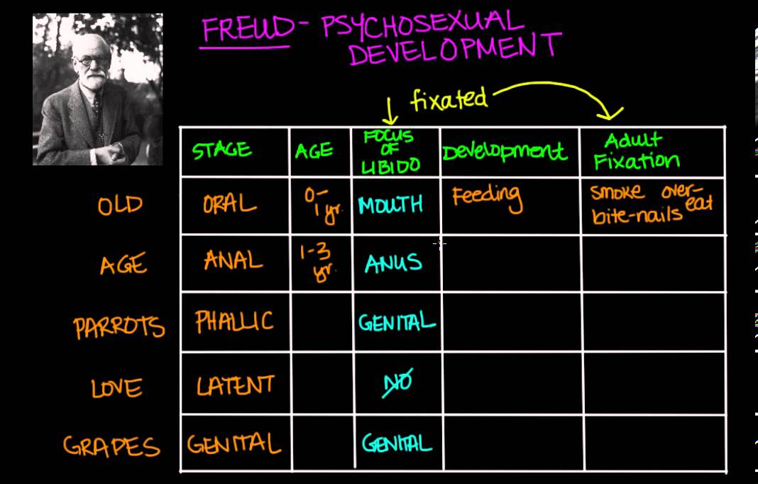 Freuds theory of psychsexual development