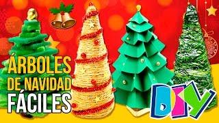 🎄 5 ARBOLES de NAVIDAD caseros MINI * 🎄 MANUALIDADES navideños DIY para DECORAR  🎄