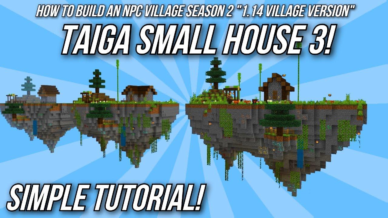 Minecraft Tutorial: How to build an NPC Village - Spruce Average House!  (Village & Pillage Version)
