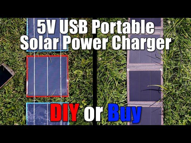 5V USB Portable Solar Power Charger || DIY or Buy