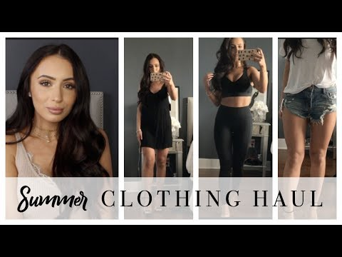 fd054d884 SUMMER TRY-ON CLOTHING HAUL | DRESSES, SHORTS, WORKOUT ATTIRE & MORE |  AFFORDABLE - YouTube