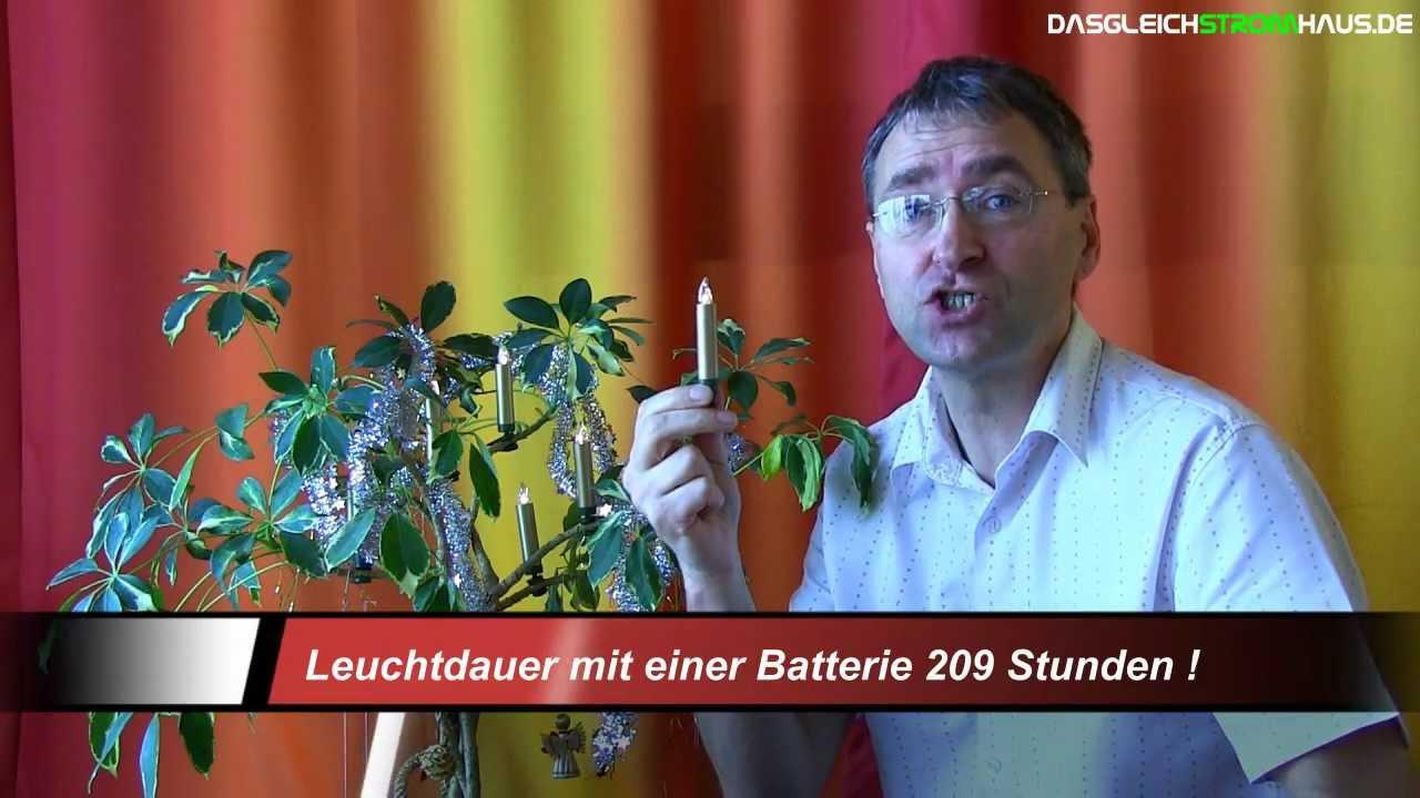 Kabellose Christbaumkerzen Lumix Mini Deluxe Von Krinner