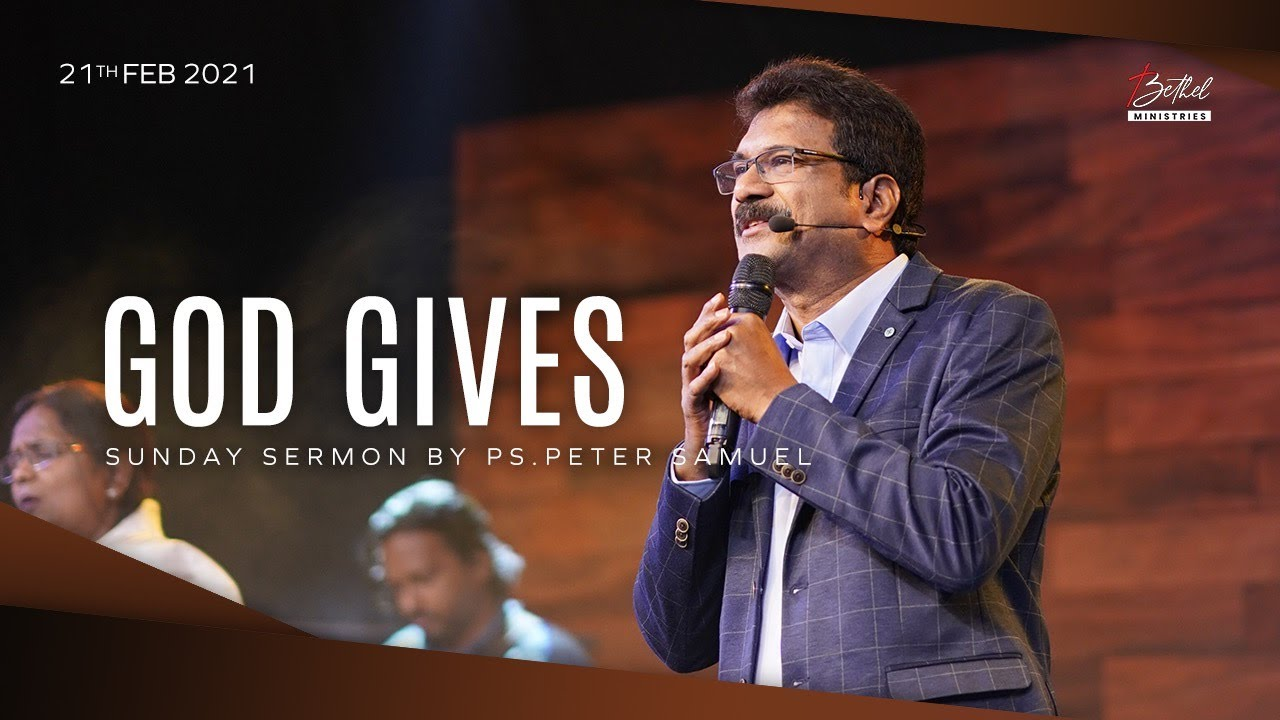 Bethel LIVE English Service | 21st Feb 2021 | Peter Samuel Gollapalli | 11:30 AM (IST)