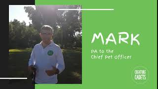 Mark the PA to our Chief Pet Officer!