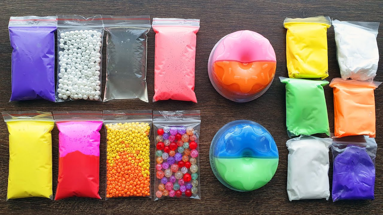 Making Slime with Bags and Clay