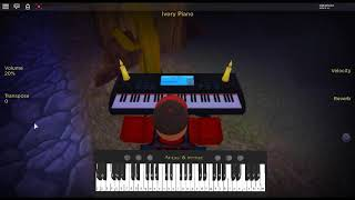 Amor Foda by: Bad Bunny on a ROBLOX piano.