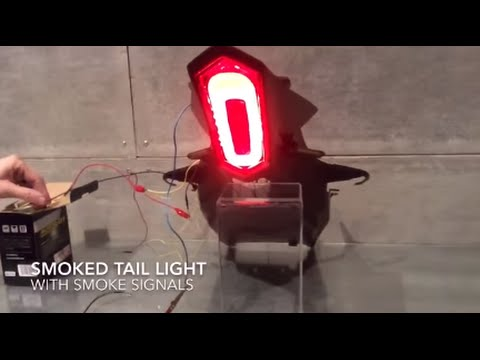 2015 Yamaha R1 R1M turn signals and tail light smoked integrated on