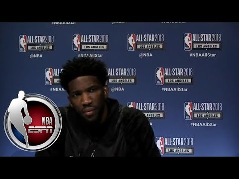 Joel Embiid gives hilarious response to questions about Rihanna and his Twitter beefs | ESPN