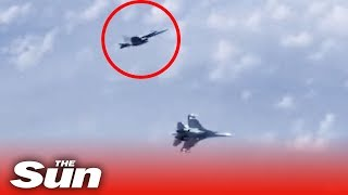 nato-jet-stalks-putin-minister-before-being-chased-off-by-su-27
