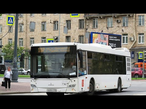 """Автобус 187 """"Ул. Типанова.-Пушкин, вокзал""""."""