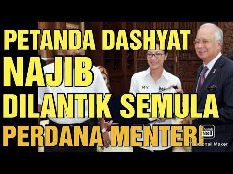 PETANDA DASHYAT NAJIB DILANTIK SEMULA JADI PERDANA MENTERI MALAYSIA