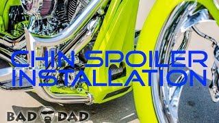 Bad Dad Harley Davidson motorcycle chin spoiler Installation Tutorial