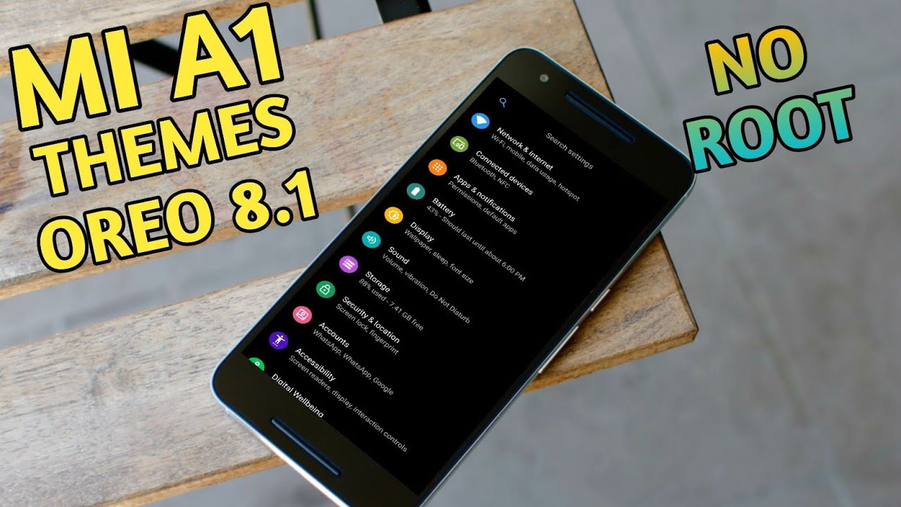 MIa1 Themes Change Without Root In Oreo 8 1 October Update 2018 !!