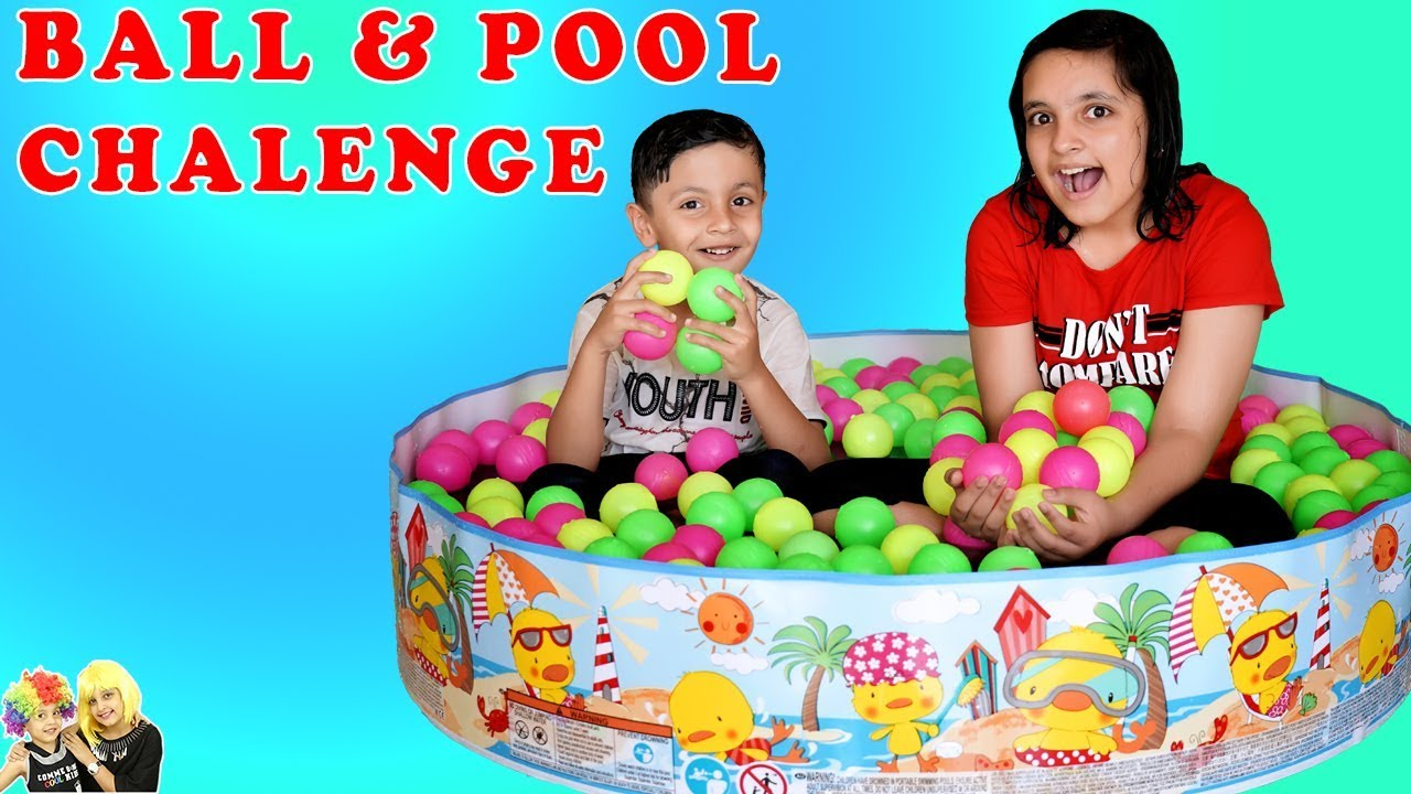 Download BALL and POOL CHALLENGE | Summer Masti Parents vs Kids Game | Aayu and Pihu Show