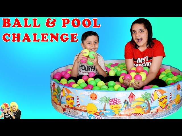 BALL and POOL CHALLENGE | Summer Masti Parents vs Kids Game | Aayu and Pihu Show