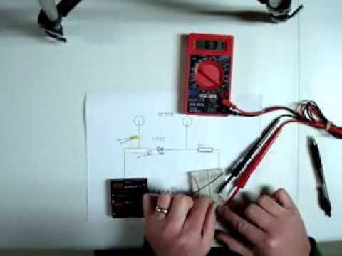 How to find the Forward Voltage drop of an LED
