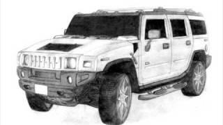 dibujos de autos-lapiz y papel