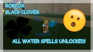All Water Grimoire Spells Preview! | Roblox Black Clover Online Alpha|