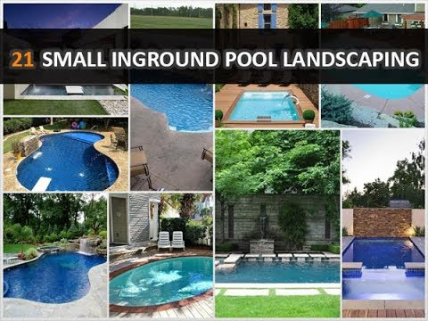 21 Magnificent Small Inground Pool Landscaping Ideas Deconatic