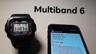 Cách sử dụng chức năng multiband 6 trên Gshock bằng điện thoại