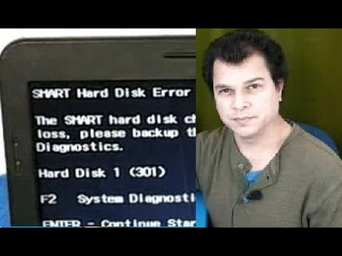 Smart Hard Disk Error / how to fix it / Error 301 hp    maybe it was not  bad!!!