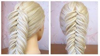 Tuto coiffure simple  Tresse pi de bl inverse  Dutch fishtail braid  Hair Tutorial